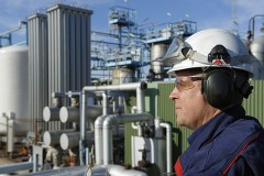 a chemical engineer at a chemical refinery